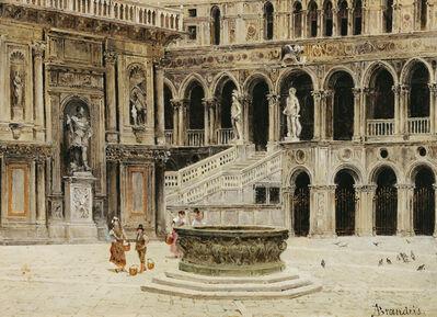 Antonietta Brandeis, 'Cortile del Palazzo Ducale with Arco Foscari and Scala dei Giganti, Venice', 1880