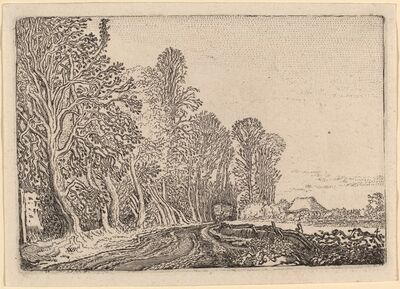 Willem Buytewech, 'Road at the Edge of the Forest', 1621