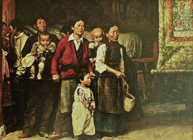 Pei Zhuangxin, 'Waiting- Jokhang Temple 等待-⼤昭寺', 1989