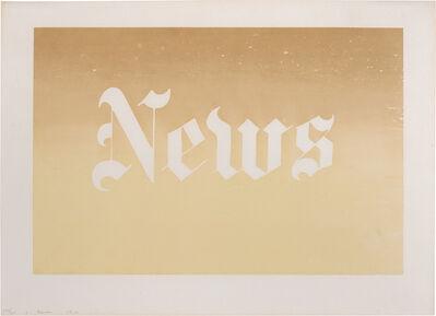 Ed Ruscha, 'News (Engberg 34)', 1970