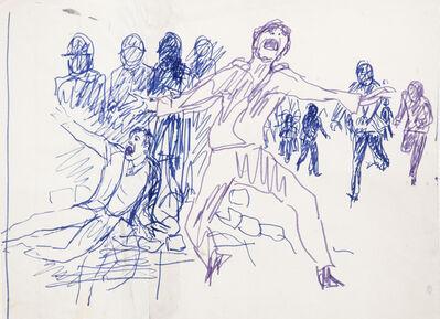 """Antonio Berni, ' Sin Título (Estudiantes). De la serie """"Mayo del 68, París""""', ca. 1968"""