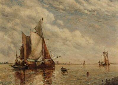 Paul Jean Clays, 'Shipping in an Estuary'