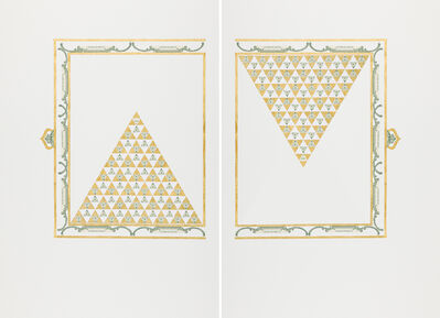 Abdullah  M. I. Syed, 'Illuminated Prisms Manuscript I: Pgs. 1 & 2 (Diptych)', 2017