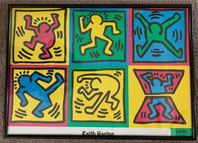 Keith Haring, 'Dancing Men', 1995