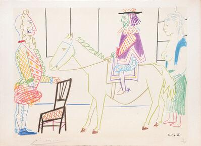 Pablo Picasso, '(The Parade.) Untitled from Suite de 15 dessins de Picasso. ', 1954