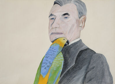Jenny Watson, 'Man with Parrot', 1972