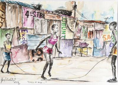 Semi Lubisi, 'Girls at play', 2019