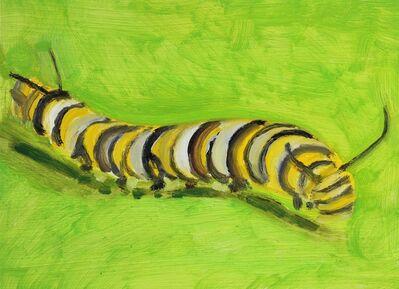 Lois Dodd, 'Monarch Caterpillar', 2017