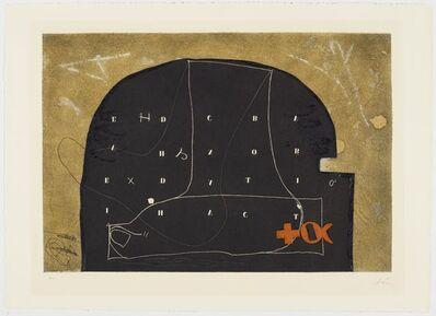 Antoni Tàpies, 'Arc negre amb lletres', 1975