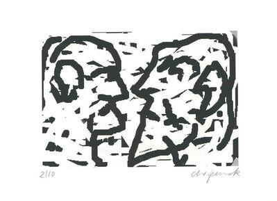 A.R. Penck, 'Doppelkopf', 1992