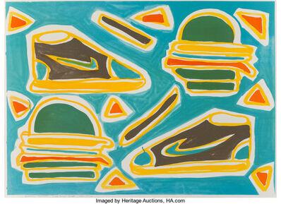 Katherine Bernhardt, 'Cheese Burger Deluxe', 2016