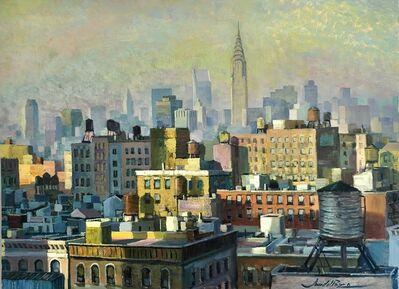 Juan del Pozo, 'NY Water Tanks - contemporary cityscape painting', 2021