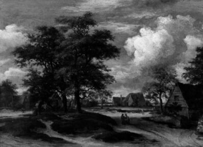 Style of Meindert Hobbema, 'Woodland Landscape with a Farm', 1658-1912