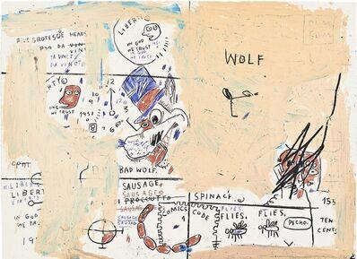 Jean-Michel Basquiat, 'Wolf Sausage', 1982-1983/2019