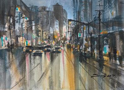 Sawan Tantiwan, 'Bangkok streets V', 2017