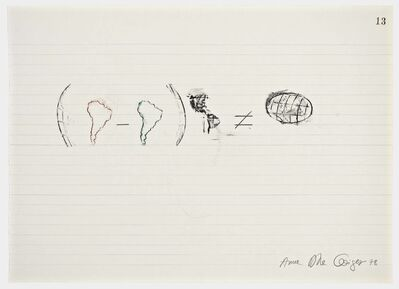 Anna Bella Geiger, 'Equations No 13', 1978
