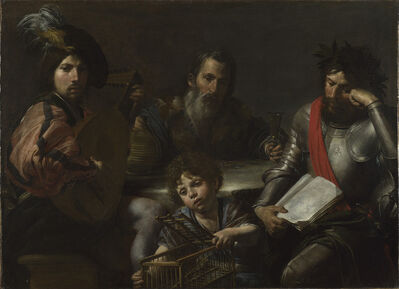 Valentin de Boulogne, 'The Four Ages of Man', ca. 1629