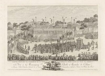 Isidore-Stanislaus-Henri Helman, 'Marche ordinaire de l'empereur de la Chine lorsqu'il passe dans la ville de... (plate XIX)', 1783