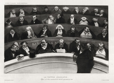 Honoré Daumier, 'Le Ventre Législatif', 1834