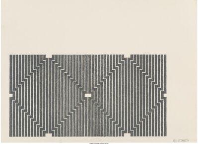 Frank Stella, 'Casa Cornu, from the Aluminum series', 1970