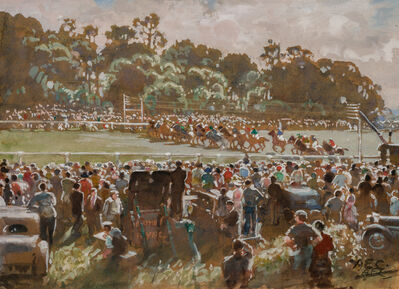 Alfred Egerton Cooper, 'Start of the Epsom Derby', 20th Century