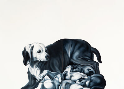 Shelley Reed, 'With Her Pups (after Oudry)', 2016