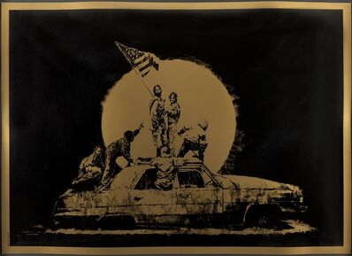 Banksy, 'Gold Flag', 2007
