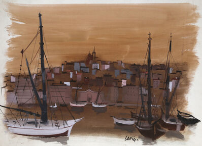Charles Levier, 'Marseilles Harbor', Mid 19th Century
