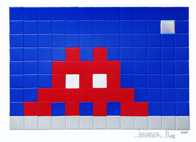 Invader, 'Home Moon', 2010