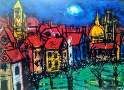 "Asit Poddar, 'Olive Town, Pastel on Paper by Contemporary Artist ""In Stock""', 2010-2020"