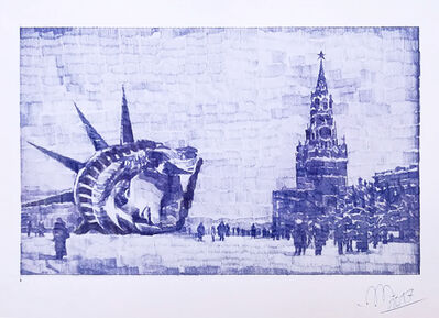 Andrei Molodkin, 'Liberty on the Red Square', 2017