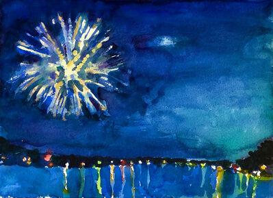 Zach Seeger, 'Fireworks, Raquette Lake', 2020