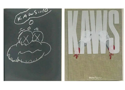 "KAWS, '""KAWS...10"", Signed & Dated Cloud Drawing (first page), Exhibition Catalogue Aldrich Museum', 2010"