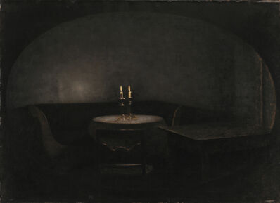 Vilhelm Hammershøi, 'Interior. Artificial Light', 1909
