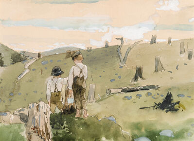 Winslow Homer, 'Boys on a Hillside', 1879