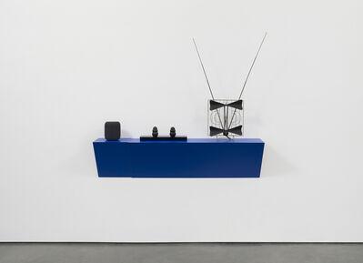 Haim Steinbach, 'Untitled (siri, kongs, antenna)', 2019
