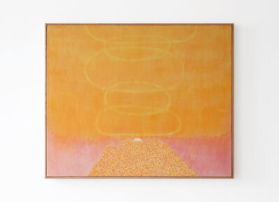 William Monk, 'Smoke Ring Mountain (deep yellow)', 2017