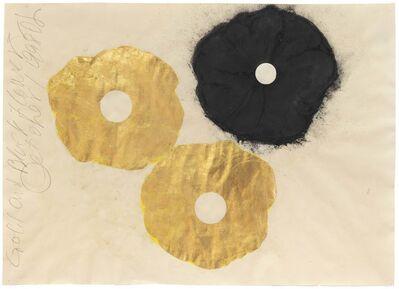 Donald Sultan, 'Gold and Black Flower, 1 September 1998', 1998