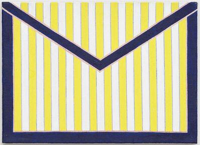"""Tessa Perutz, '""""Small Envelope with White and Yellow Stripes""""', 2013"""