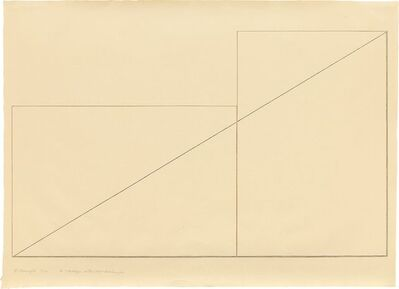 Robert Mangold (b.1937), 'A Triangle within two Rectangles', 1976