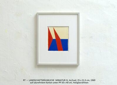 Rainer Tappeser, 'LANDSCHAFTSRÄUMLICHE MINIATUR IV rot/blau', 1969