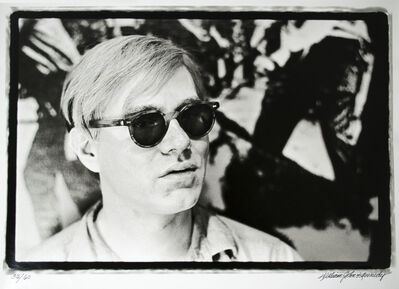 William John Kennedy, 'Close-up of Andy Warhol in his studio', 1964