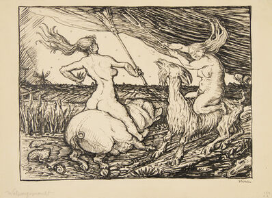 Alfred Kubin, 'Witches' Sabbath', 1918