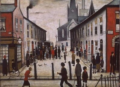 After L S Lowry, 'The Fever Van', 1972