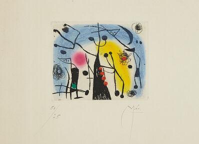 Joan Miró, 'Les magdaléniens (The Magdalenians)', 1958