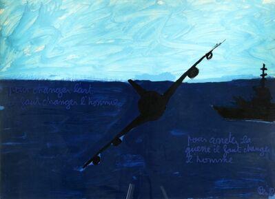 Ben Vautier, 'Pour changer l'art il faut changer l'homme pour arreter la guerre il faut changer l'homme', 1982