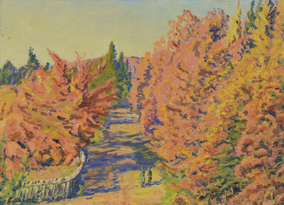 Gustave Cariot, 'Lisière de Forêt (Georgenborn, Wiesbaden)', 1926