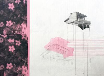 Julião Sarmento, 'Silver Lake Print Flowers', 2017