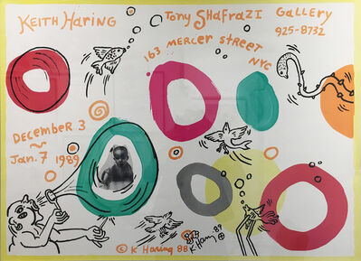 Keith Haring, 'Keith Haring Exhibition Poster for Tony Shafrazi Gallery', 1988