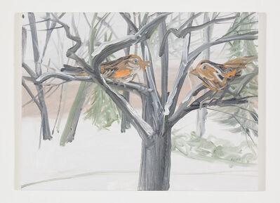 Ann Craven, 'Snow Birds (Orange Snow Sparrow), 2017', 2017